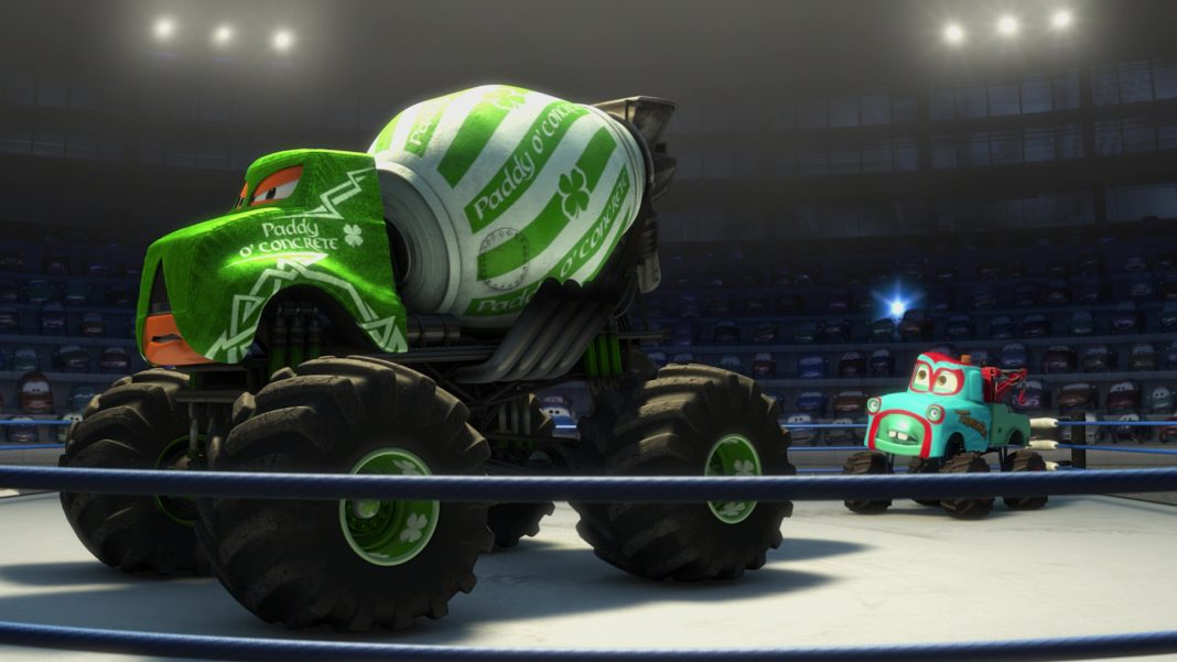 pixar disney personnage character cars toon martin poids lourd monster truck mater paddy toupie irlande o concrete
