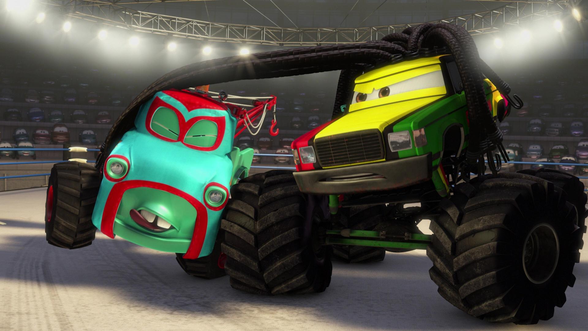 pixar disney personnage character  cars toon martin poids lourd monster truck mater Rastatineur rasta carian
