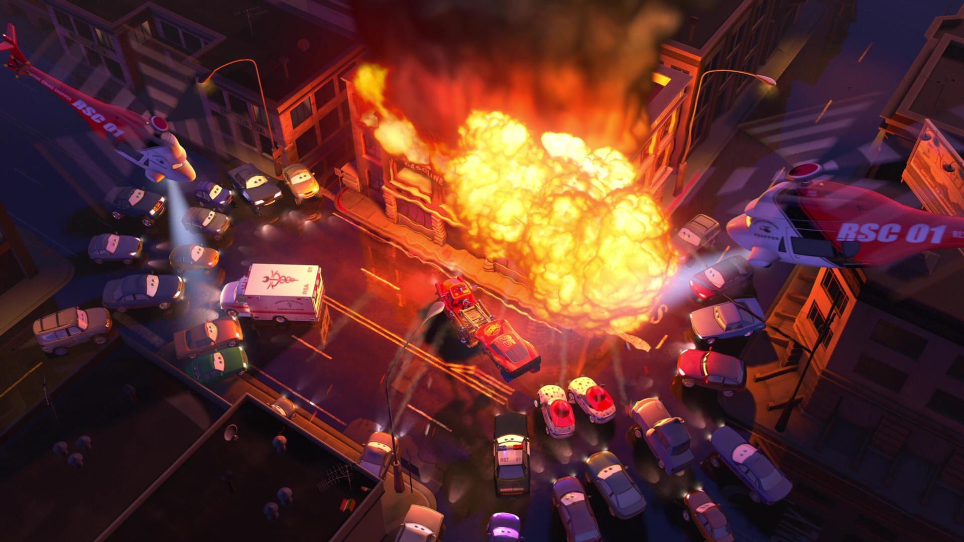 pixar disney personnage character  cars toon martin à la rescousse rescue squad mater hélicoptère  choper