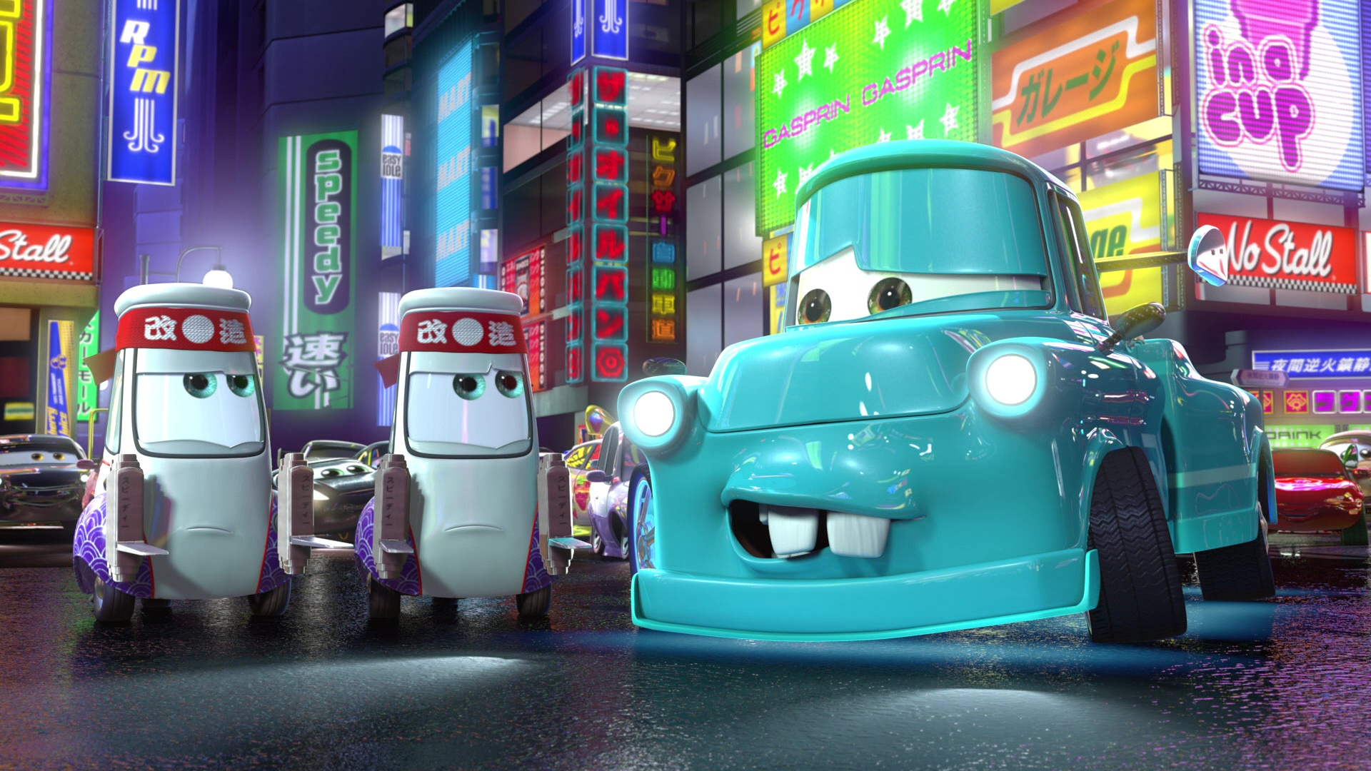 "Paki, Character From ""Cars Toon : Tokyo Mater""."