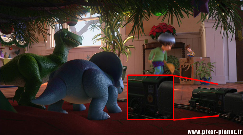 Pixar disney clin d'oeil easter egg toy story that time forgot hors du temps