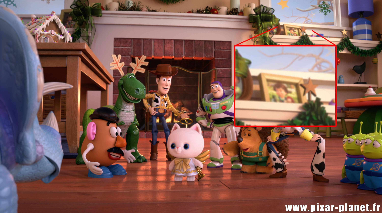 Pixar disney clin d'oeil easter egg toy story that time forgot hors du temps