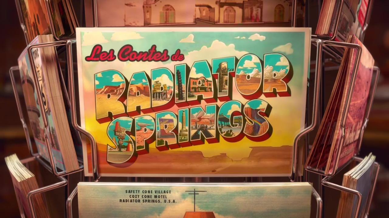 logo pixar disney les contes de radiator springs tales from