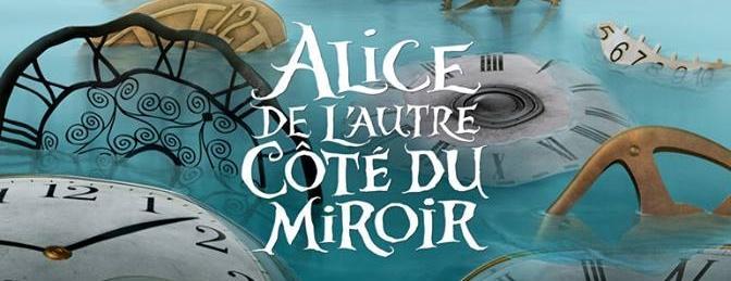 Illustration disney alice de l'autre cote du miroir