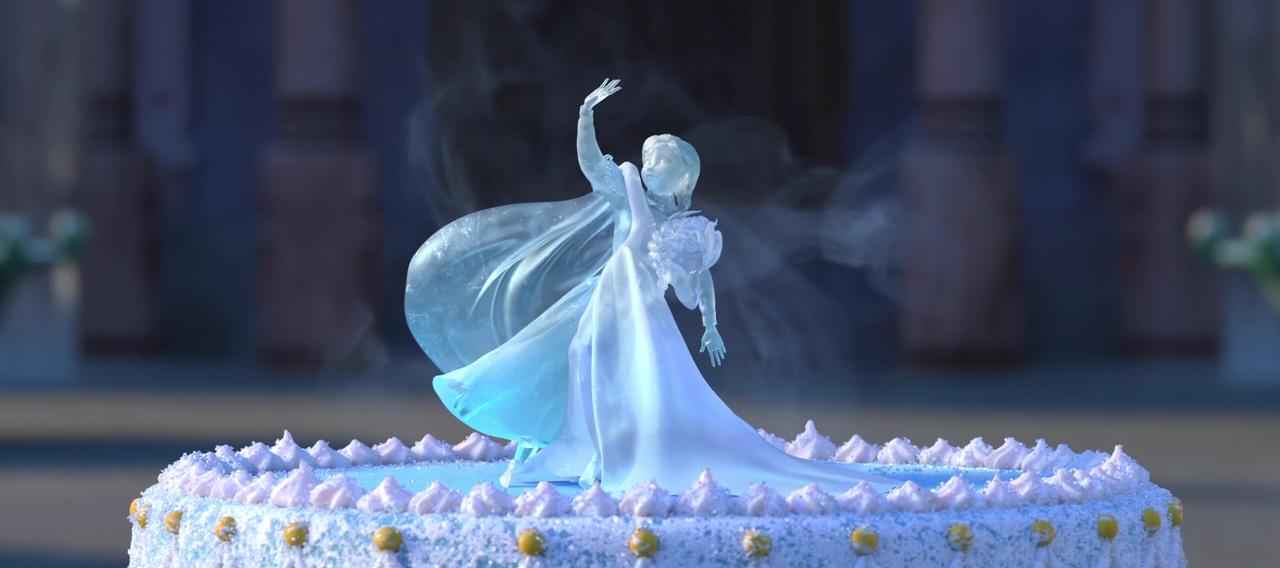 Illustration clins doeil La Reine des Neiges Une fete Givree