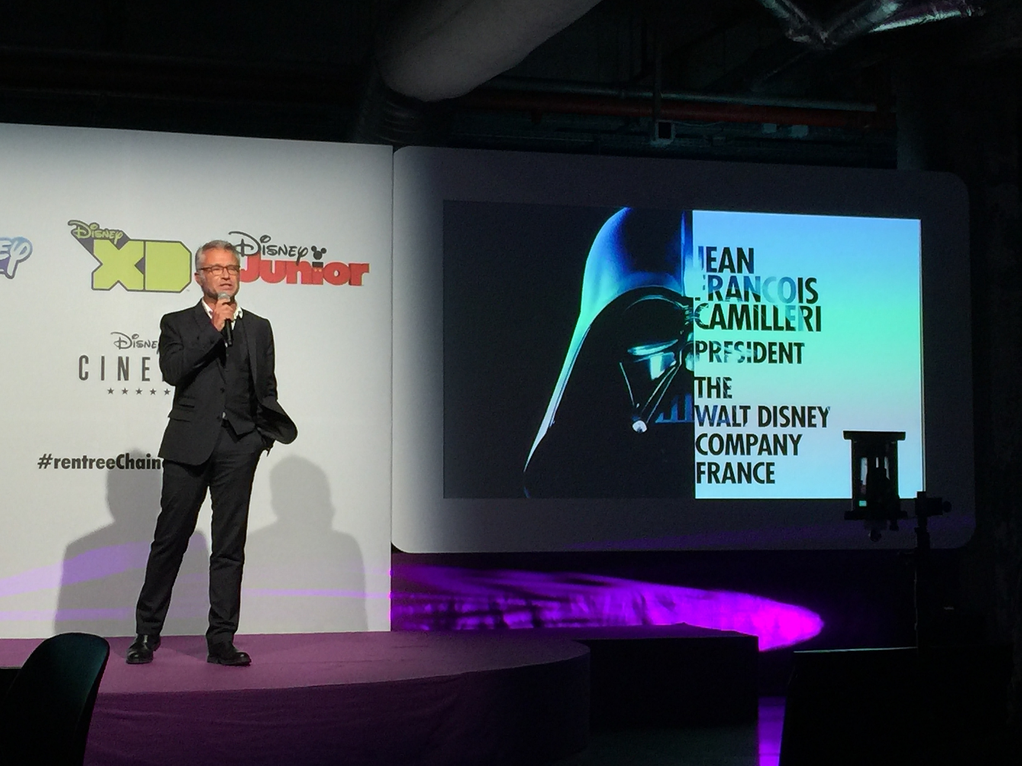 Illustration conférence chaines disney 2015-2016
