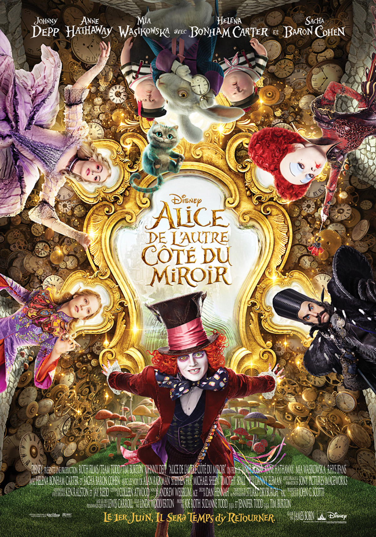disney affiche poster alice de l'autre côté du miroir through looking glass