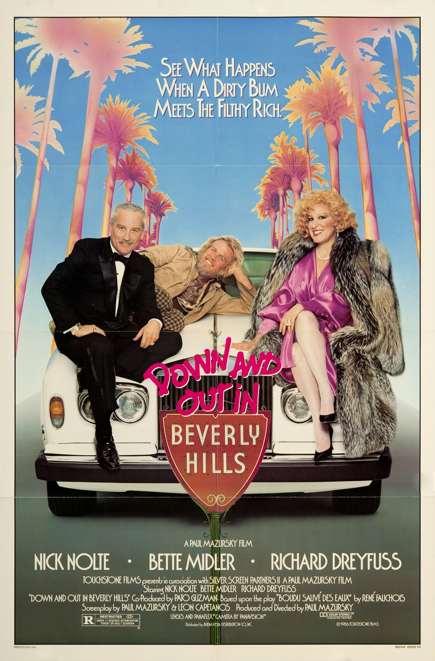 Affiche Poster clochard beverly hills down out disney touchstone