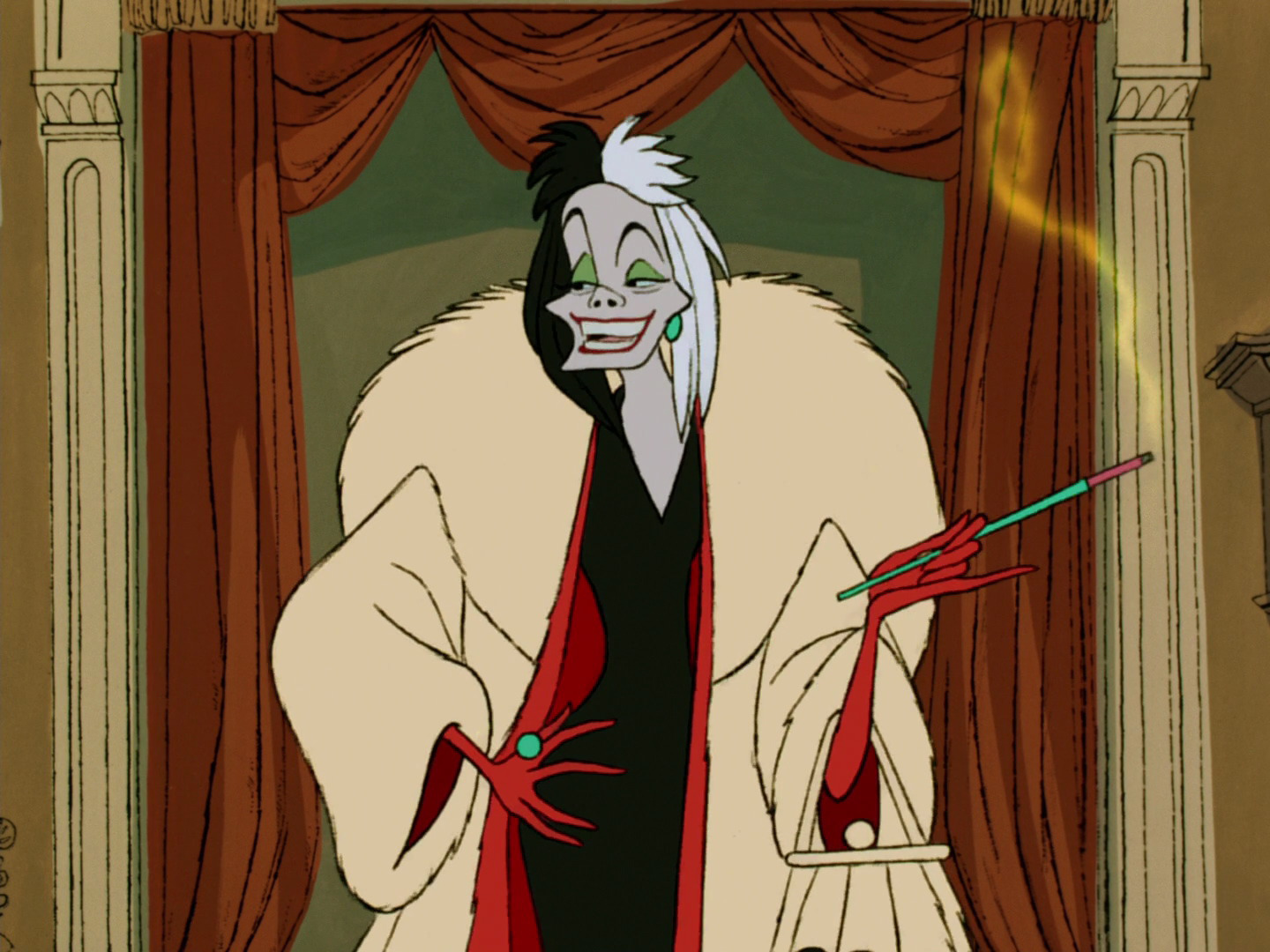 cruella enfer personnage 101 dalmatiens disney film animation