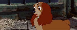 la belle et le clochard lady and the tramp lady chien dog disney animation personnage character