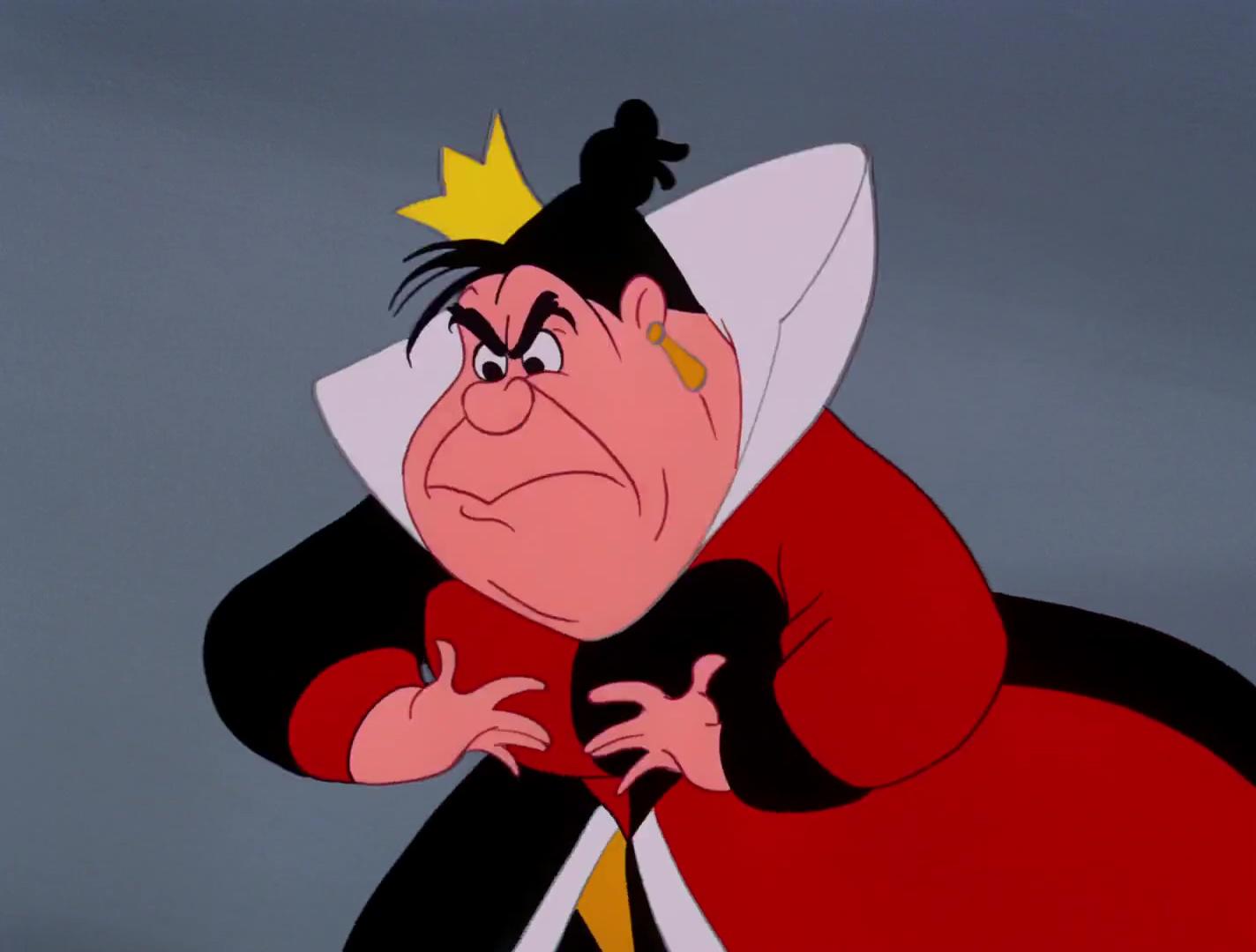 Reine coeur Queen hearts Personnage Alice au pays des merveilles Disney Character Wonderland