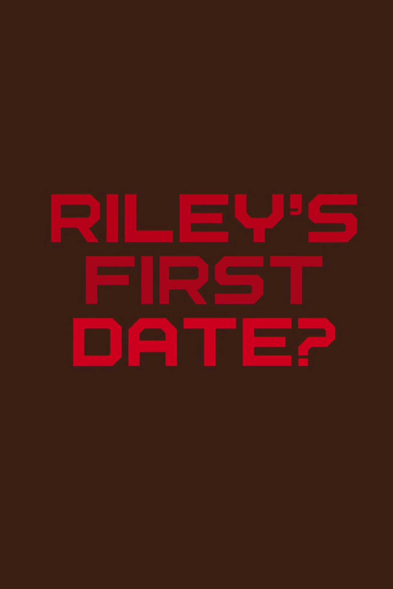 affiche poster premier rendez-vous riley first date disney pixar