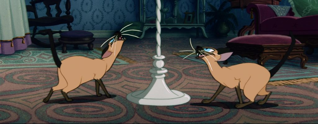 la belle et le clochard lady and the tramp si am siamois cat chat disney animation personnage character