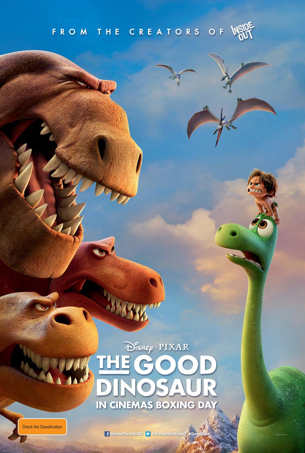 The good dinosaur australian poster