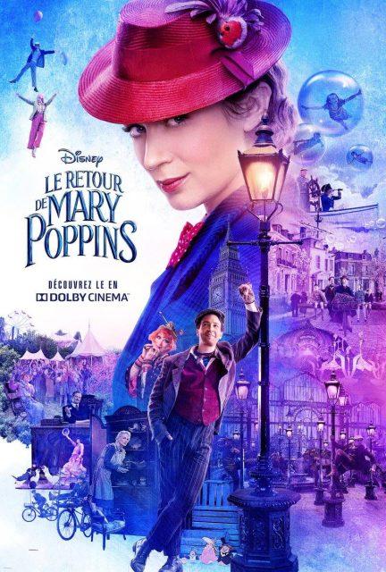 Affiche Poster mary poppins retour returns disney