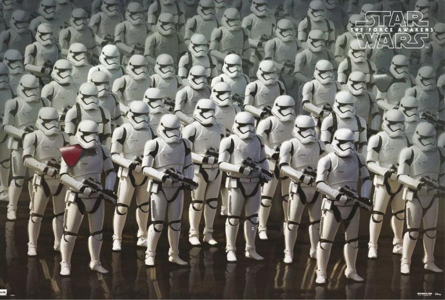 Affiche star wars VII réveil de la force disney lucasfilm concept stomrtroopers