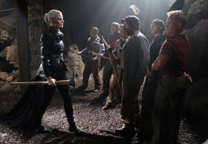 """ONCE UPON A TIME - """"Siege Perilous"""" - In Camelot, the heroes feverishly work to free Merlin. Determined to help Emma, David embarks on a quest to retrieve a magical relic that Regina could use to communicate with the imprisoned sorcerer, but, when David leaves, Arthur insists on joining him because the dangers ahead are greater than he can imagine. Meanwhile, Mary Margaret discovers the fate of her old friend Lancelot. Back in Storybrooke, Arthur seeks David's help to catch a thief who threatens the safety of the citizens of Camelot. Across town, Emma reaches out to a conflicted Hook as she sets about her plan to draw Excalibur from the stone, on """"Once Upon a Time,"""" SUNDAY, OCTOBER 11 (8:00-9:00 p.m., ET) on the ABC Television Network. (ABC/Jack Rowand) JENNIFER MORRISON, DAVID-PAUL GROVE, MIG MACARIO,  GABE KHOUTH, LEE ARENBERG, FAUSTINO DI BAUDA, MICHAEL COLEMAN"""