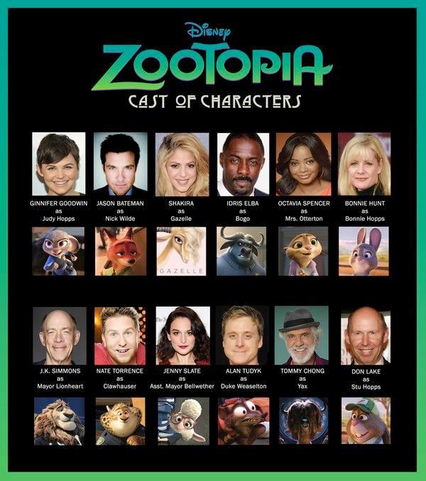 disney zootopie personnages actu casting