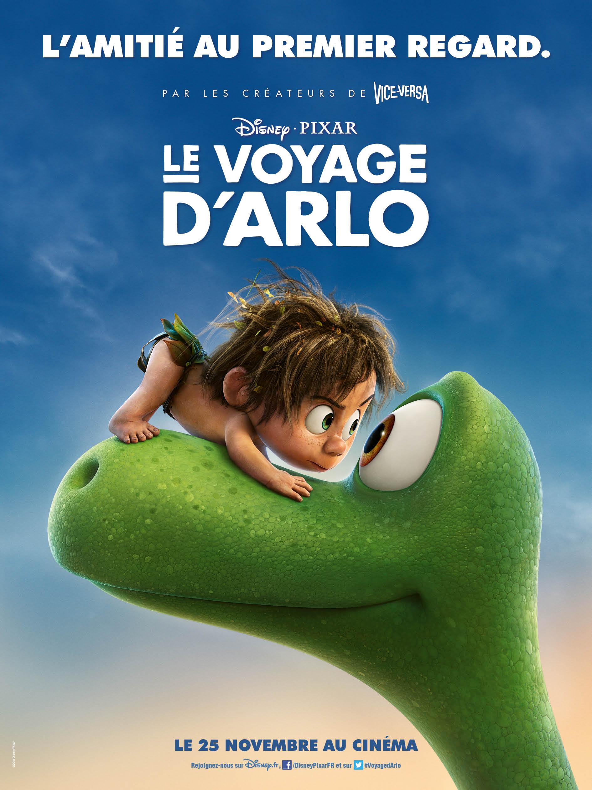 pixar disney affiche poster voyage arlo good dinosaur