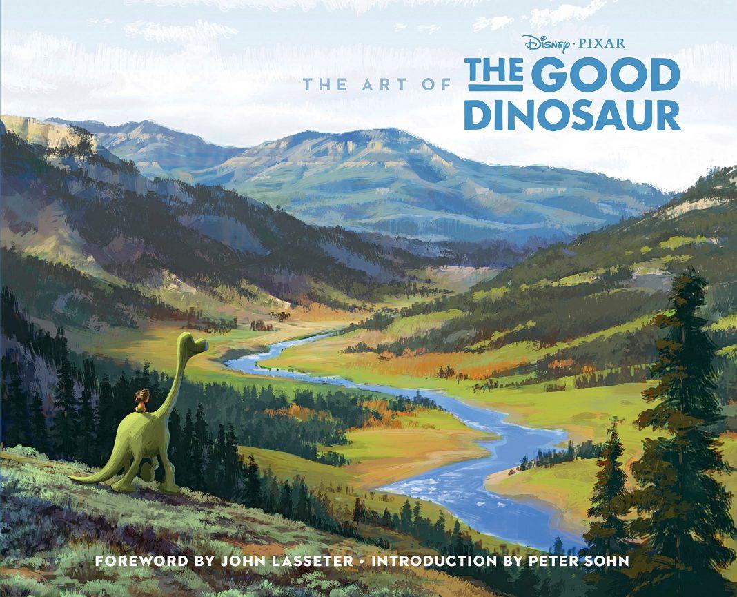 pixar disney livre book the art of the good dinosaur voyage arlo