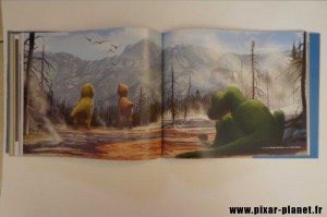 pixar disney art of good dinosaur livre book voyage arlo