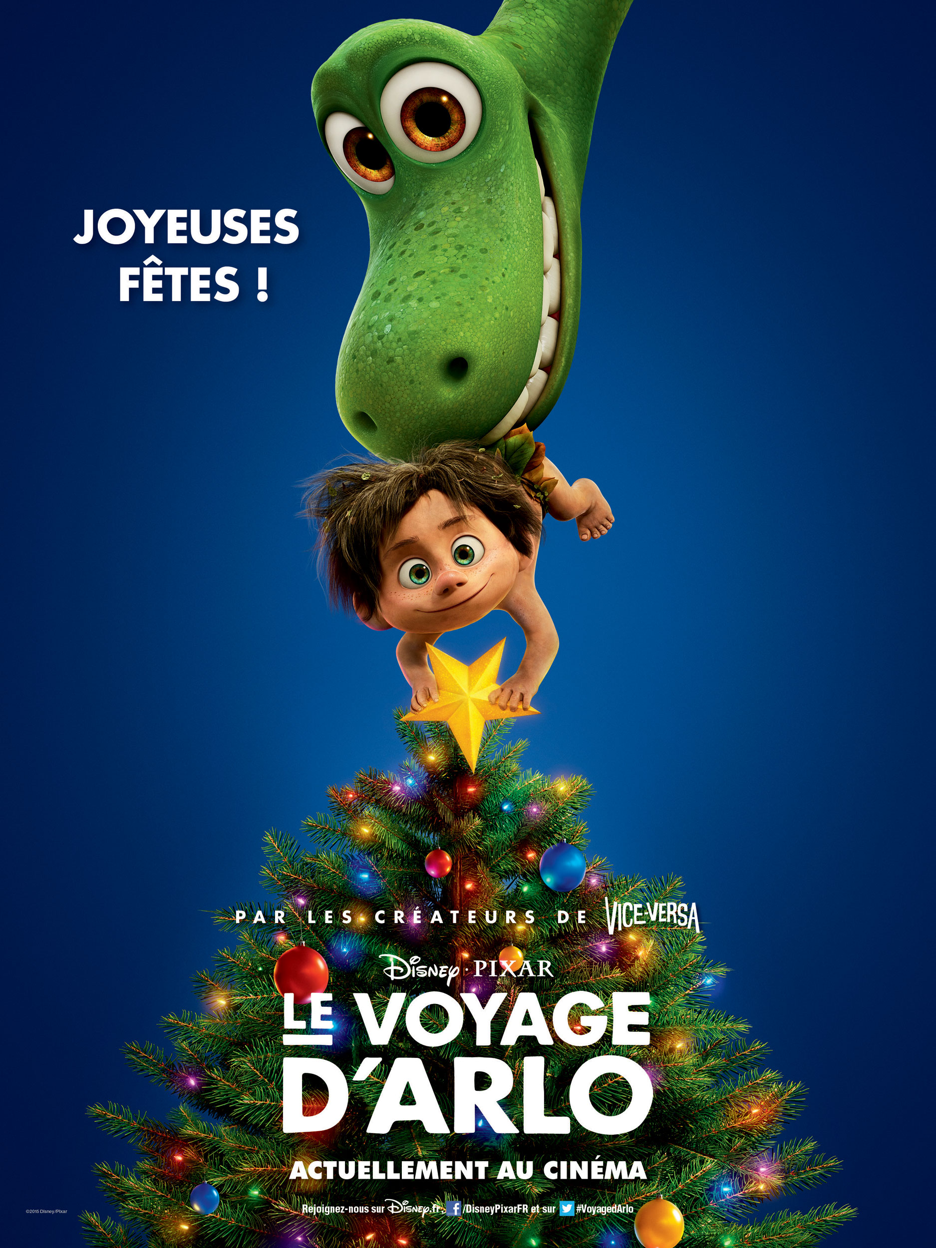 pixar disney voyage arlo good dinosaur affiche poster noel christmas