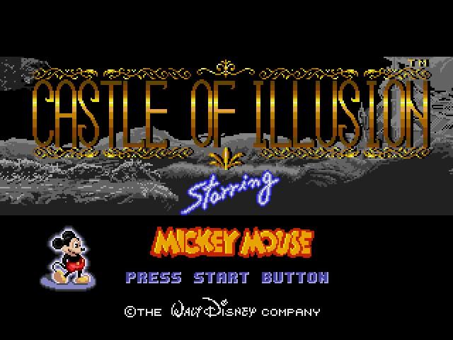 Castle of illusion megadrive disney