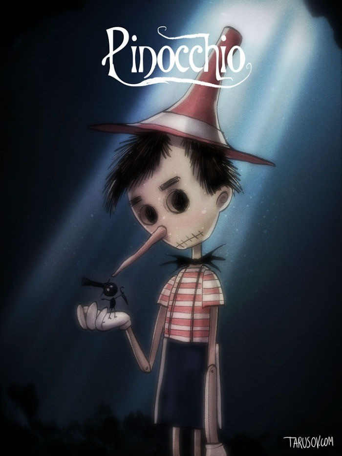 Disney Fan Art Made in Tim Burton andrew tarusov
