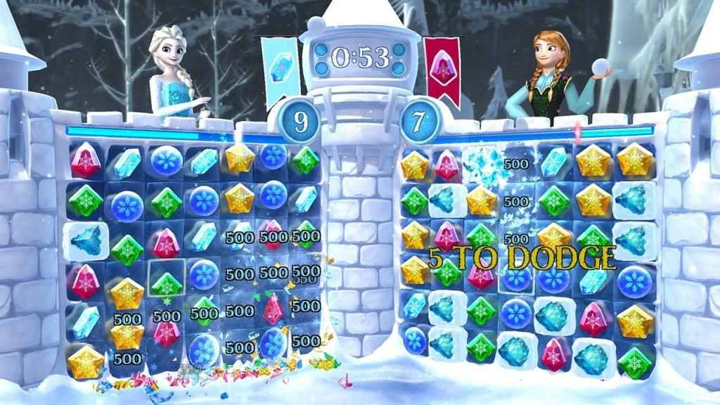 la reine des neiges free fall bataille de boules de neiges disney jeu vidéo