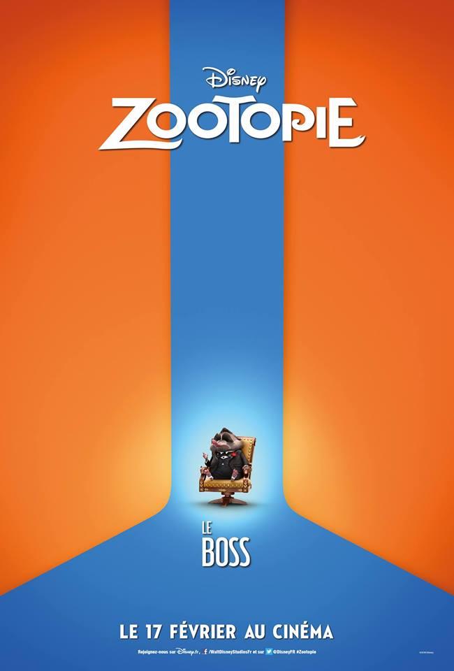 actu affiche zootopie personnages
