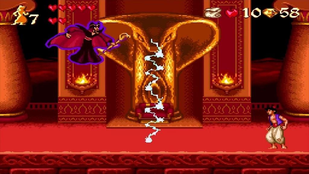 Le combat final avec Jafar - Image de la version SNES