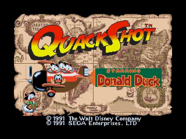 QuackShot starring Donald Duck Disney Jeu video