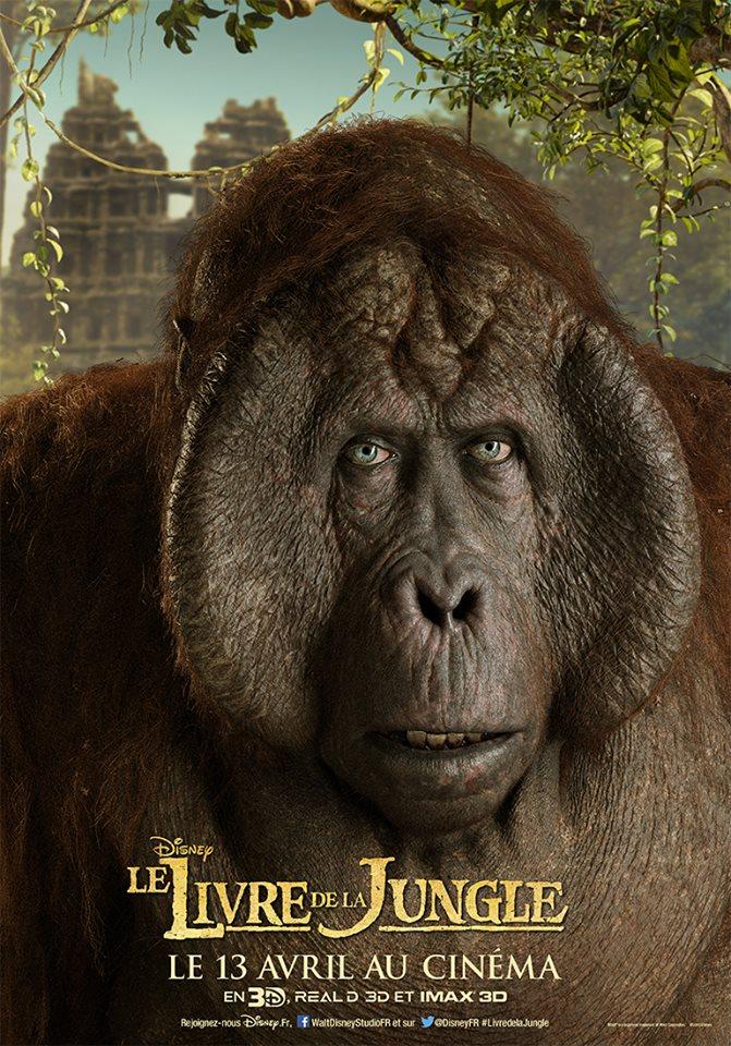 actu affiches personnages le livre de la jungle disney 2016