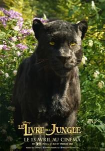 affiche poster disney le livre de la jungle book personnage character bagheera