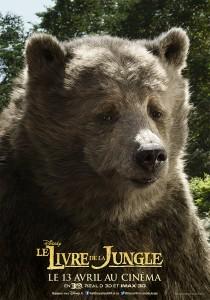 affiche poster disney le livre de la jungle book personnage character baloo