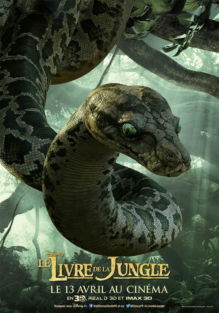 affiche poster disney le livre de la jungle book personnage character kaa