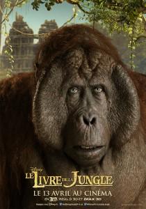 affiche poster disney le livre de la jungle book personnage character roi louie king