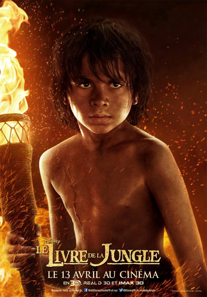 affiche poster disney le livre de la jungle book personnage character mowgli