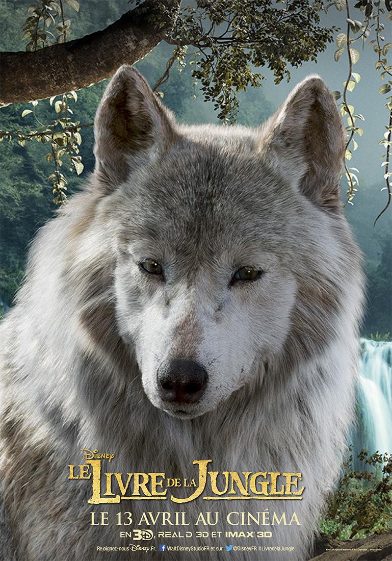 affiche poster disney le livre de la jungle book personnage character raksha