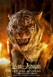 affiche poster disney le livre de la jungle book personnage character shere khan