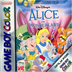 alice au pays des merveilles jeu video gameboy color disney