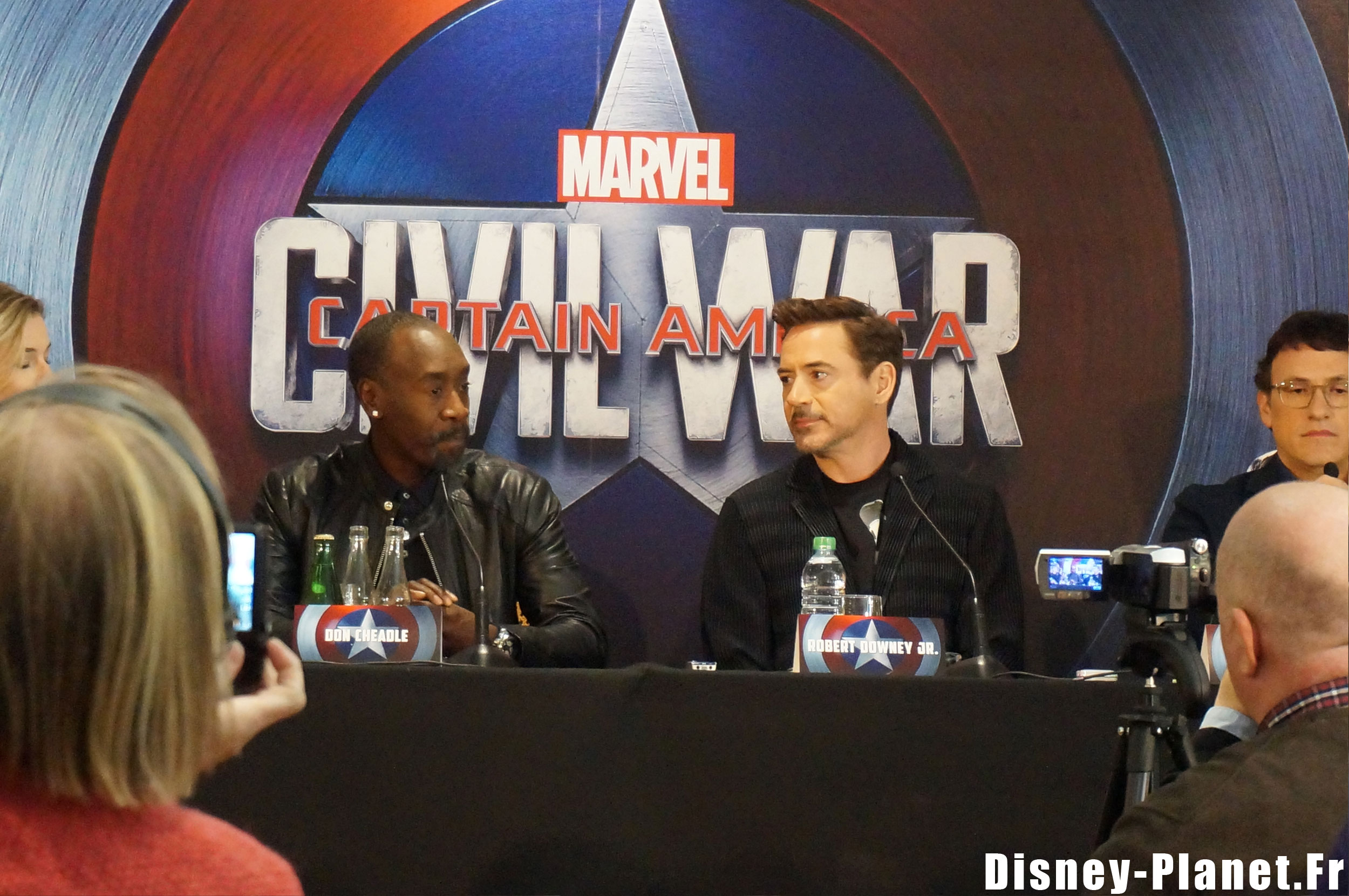 conférence presse captain america civil war marvel disney