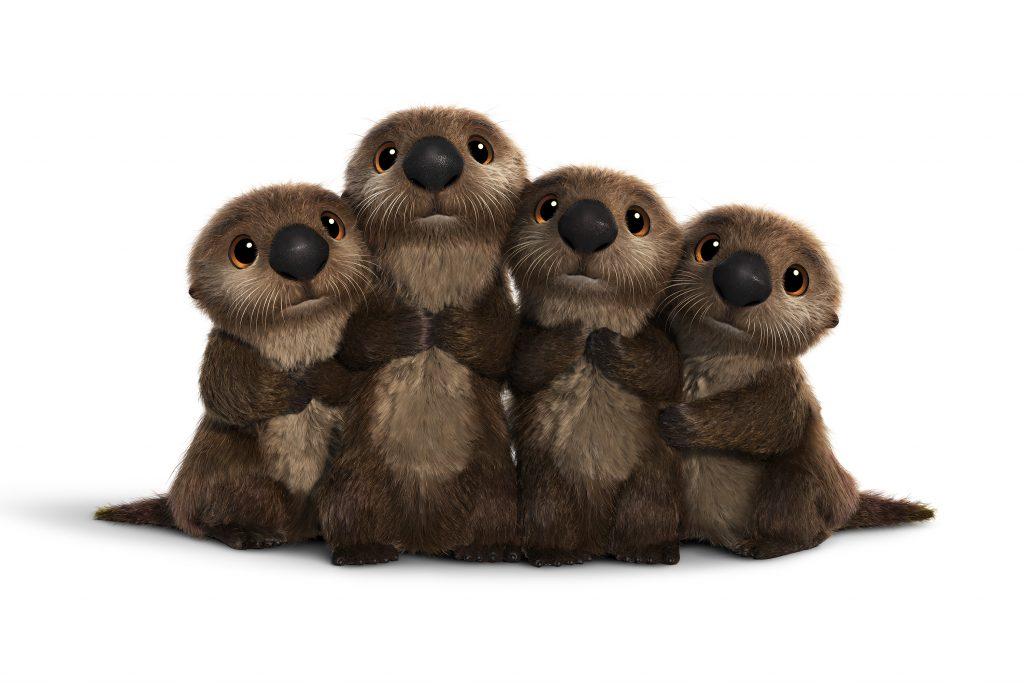 loutres pixar disney le monde de dory finding personnage character