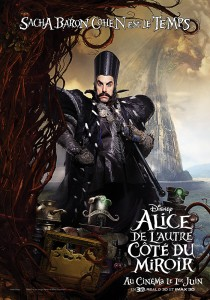 disney alice de l'autre côté du miroir through the looking glass affiche poster personnage character