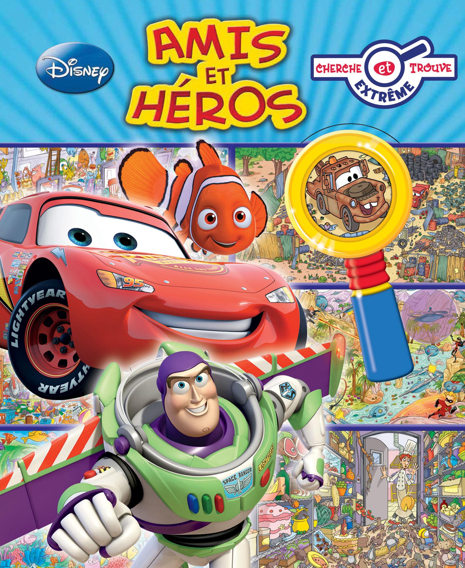 fran ais le livre cherche et trouve amis et h ros pixar planet fr. Black Bedroom Furniture Sets. Home Design Ideas