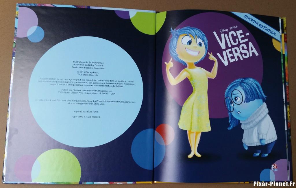 pixar disney cherche et trouve livre vice-versa