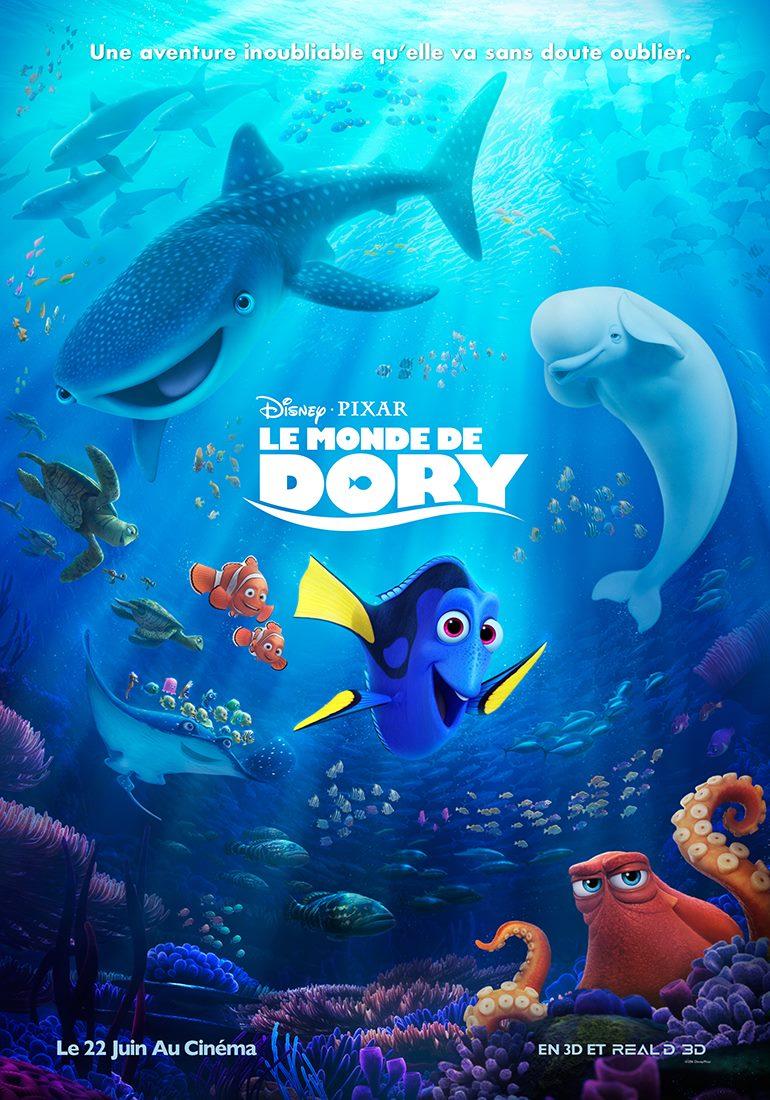 affiche poster monde finding dory disney pixar
