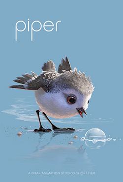 affiche poster piper disney pixar