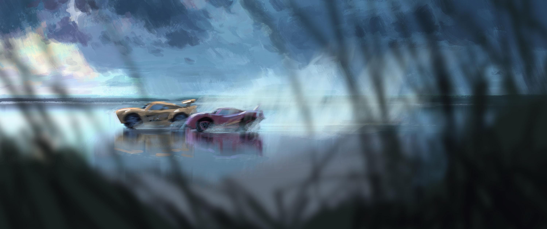 pixar disney artwork cars 3
