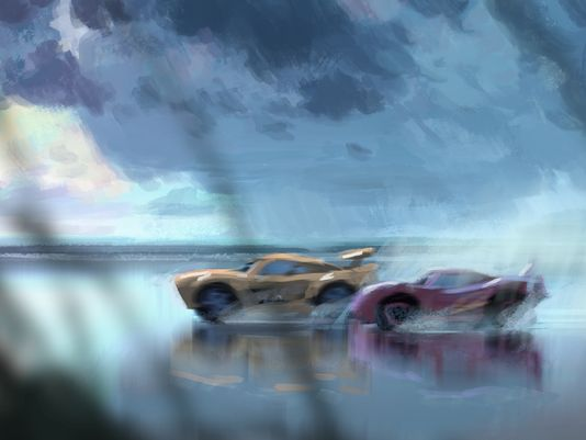 pixar disney artwork cars 3